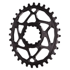 Absolute Black Spiderless GXP (Boost/3mm) DM Oval Chainring - 32T - Black