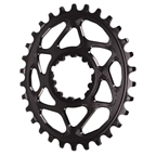 Absolute Black Spiderless GXP (Boost/3mm) DM Oval Chainring - 30T - Black