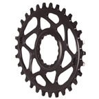 Absolute Black Spiderless Cinch DM Oval Chainring - 30T - Black
