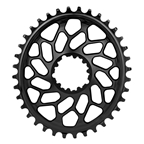 Absolute Black Spiderless GXP/BB30 DM CX Oval Chainring - 38T - Black