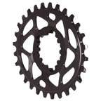 Absolute Black Spiderless GXP DM Oval Chainring - 28T - Black