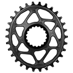 Absolute Black Spiderless E*Thirteen DM Oval Chainring - 30T - Black