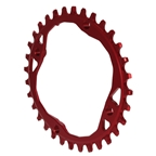 Absolute Black 104 Oval Chainring - 104BCD 32t - Red