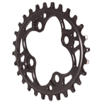 Absolute Black 104 Oval Chainring - 64BCD 28T - Black