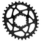 Absolute Black Spiderless GXP Direct Mount Oval Chainring - 32T - Black
