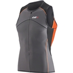 Louis Garneau Comp Sleeveless Men's Top: Black/Asphalt/Tangerine