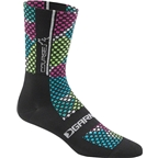 Louis Garneau Course Women's Sock: Multicolor/Black