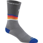 Louis Garneau Tuscan X-Long Sock: Gray/Monaco Blue