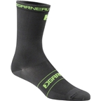 Louis Garneau Tuscan Long Sock: Black/Yellow