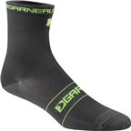 Louis Garneau Tuscan Sock: Black/Yellow