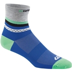 Louis Garneau Tuscan Women's Sock: Dazzling Blue/Gray