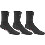 Louis Garneau Long Versis 3 Pack Sock: Black