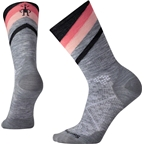Smartwool PhD Cycle Ultra Light Women's Pattern Crew Sock: Light Gray