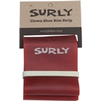 Surly Rim Strip: For Clown Shoe Rim, PVC, 75mm wide, Red
