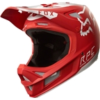 Fox Racing Rampage Pro Carbon Full Face Helmet: Moth Red/White