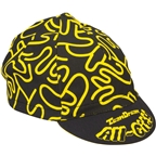 All-City Team Dream Cycling Cap: One Size Black/Yellow