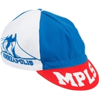 All-City Hennepin Bridge Cycle Cap: One Size Red/White/Blue