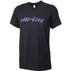 All-City Script Logo Men's T-Shirt: Black/Purple