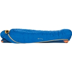 Big Agnes Inc. Fish Hawk 30F Sleeping Bag: 650-fill DownTek Blue Regular