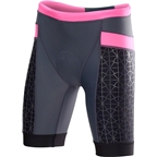 """TYR Competitor 8"""" Women's Short: Gray/Pink"""