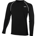TYR Long Sleeve Men's Rashguard: Black