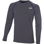 TYR Long Sleeve Men's Rashguard: Gray