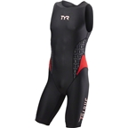 TYR Torque Pro Men's Swimskin: Black/Red