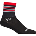 Swiftwick Aspire Stripe Four Sock: Black/Red