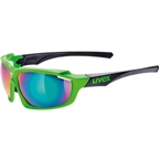 Uvex 710 Sportstyle Glasses, Green/black Mirror Green