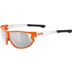 Uvex 810 Sportstyle Sunglasses,orange/white - Mirror Silver
