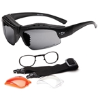 Rockgardn Pangaea Sunglasses (3 Lenses) - Black