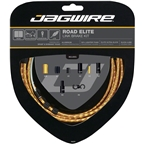 Jagwire Road Elite Link Brake Cable Kit SRAM/Shimano with Ultra-Slick Uncoated Cables, Gold
