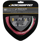 Jagwire Road Elite Link Brake Cable Kit SRAM/Shimano with Ultra-Slick Uncoated Cables, Red