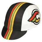 Pace Sportswear Cinelli Winged Coolmax Cap, Black/White - One Size