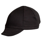 Pace Sportswear Euro Soft Bill Cycling Cap, Black - One Size