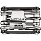 Lezyne RAP 15 CO2 Multi Tool 15 Function Aluminum Black Sides