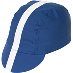 Pace Sportswear Classic Cycling Cap: Royal Blue with White Tape - XL