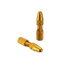 Yokozuna Crimp-Free Locking Cable Tip, Shift - Gold  Pair