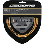 Jagwire Road Elite Link Shift Cable Kit SRAM/Shimano with Ultra-Slick Uncoated Cables, Gold