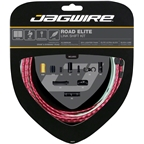 Jagwire Road Elite Link Shift Cable Kit SRAM/Shimano with Ultra-Slick Uncoated Cables, Red