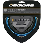 Jagwire Road Elite Link Shift Cable Kit SRAM/Shimano with Ultra-Slick Uncoated Cables, Blue