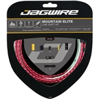Jagwire Mountain Elite Link Shift Cable Kit SRAM/Shimano with Ultra-Slick Uncoated Cables, Red