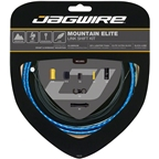 Jagwire Mountain Elite Link Shift Cable Kit SRAM/Shimano with Ultra-Slick Uncoated Cables, Blue