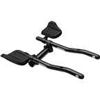 Profile Design T2 Plus S-Bend Aluminum Aerobar: Long 320mm Extension with J2 Bracket and F-19 Armrest, Black