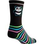 SockGuy Panda Power Crew Sock: Black