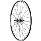 Quality Wheels Rear Wheel Value Series 700c 135mm QR 32h Shimano / Alex DC19 / DT Factory All Black