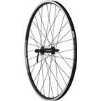 "Quality Wheels Front Wheel Value Series 26"" 100mm QR 32h Shimano / Alex DC19 / DT Factory All Black"