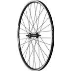 "Quality Wheels Front Wheel Value Series 26"" 100mm Bolt-on 32h Shimano / Alex DC19 / DT Factory All Black"
