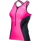 TYR Competitor Women's Tank: Pink/Gray
