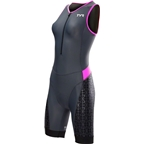 TYR Competitor Women's Singlet: Gray/Pink